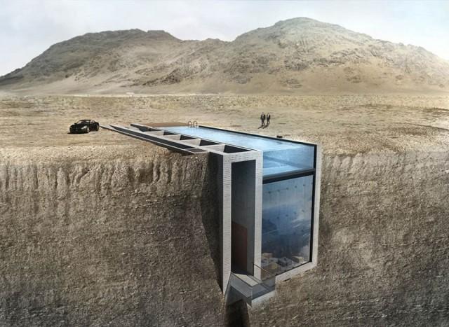 Pertama di dunia, rumah 'tertancap' di tebing jurang