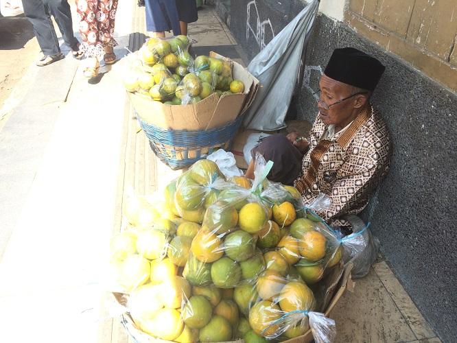 Kisah Mbah Suparman, semangat dagang jeruk meski tak laku-laku