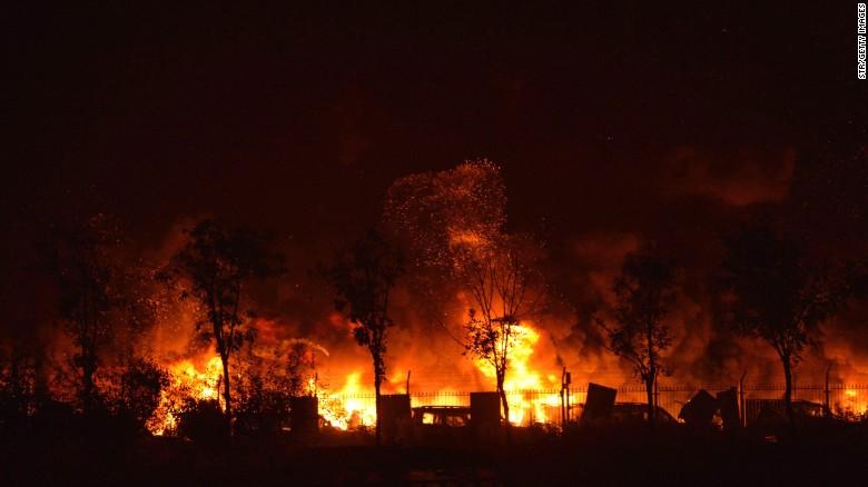 Foto-foto ledakan dahsyat di Tianjin, China