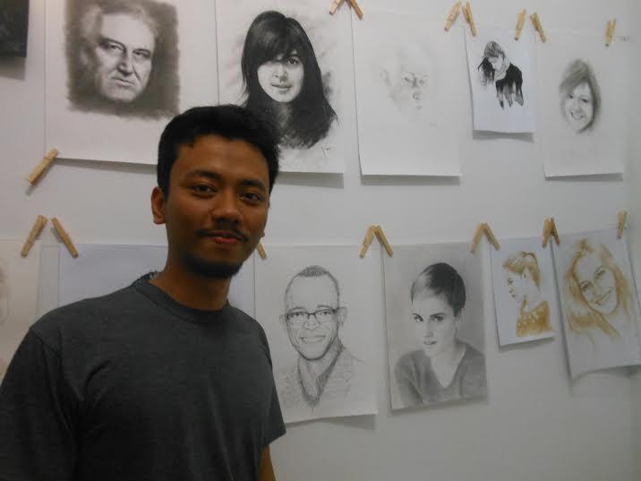 Taufik Noor, pelukis muda jenius bisa menggambar apapun tanpa tinta