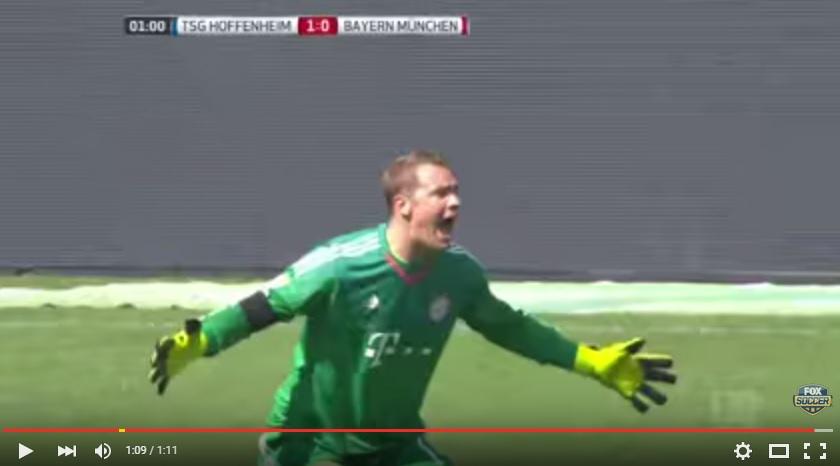 VIDEO: Neuer kembali dipermalukan, gol tercepat Bundesliga menimpanya