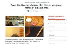 Terusir dari kedai donat oleh perokok, seorang ibu tulis petisi online