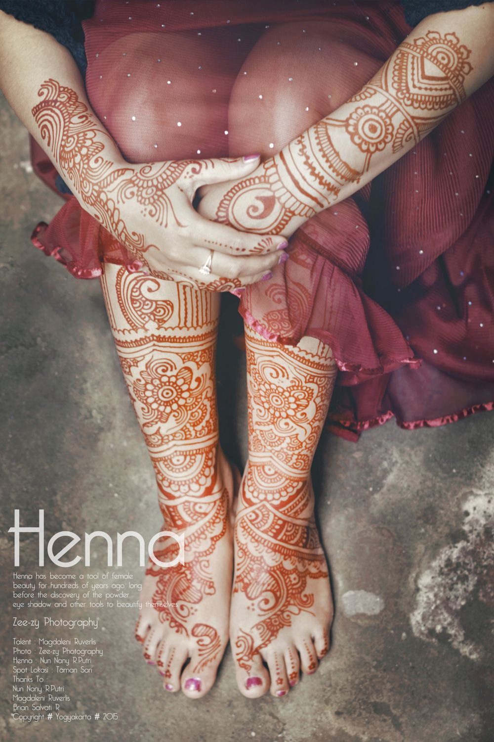 Henna Simple Warna Merah Makedes Com