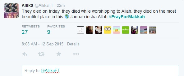 Insiden crane jatuh di Mekkah, netizen ikut berduka