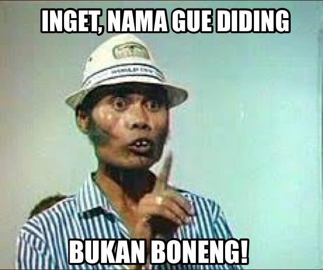 10 Meme 'krik-krik' komedian legendaris Diding Boneng