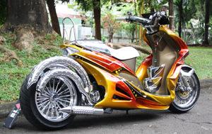 Aneka modifikasi sepeda motor yang populer di Indonesia