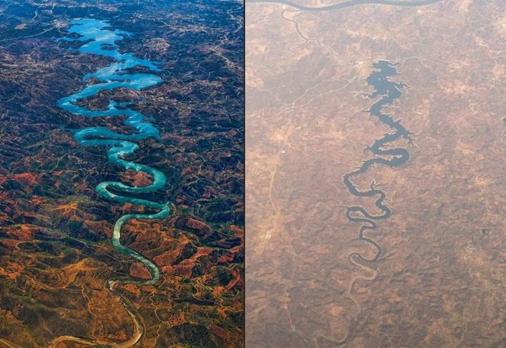 Heboh foto sungai mirip naga di Portugal, netizen harap keberuntungan