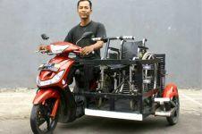 Kerap ditolak angkutan umum, Catur modifikasi motor untuk difabel