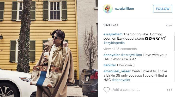 Ini dia Ezra William, sosialita cowok Indonesia pesaing Syahrini