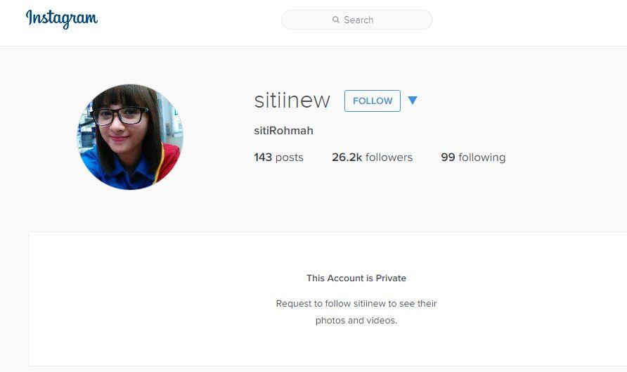 Siti kasir cantik kini kunci Instagramnya, para jomblo makin galau deh