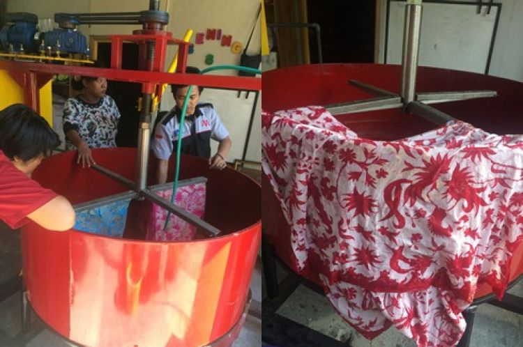 Hebat, mahasiswa ITS buat alat peluntur malam batik semi otomatis