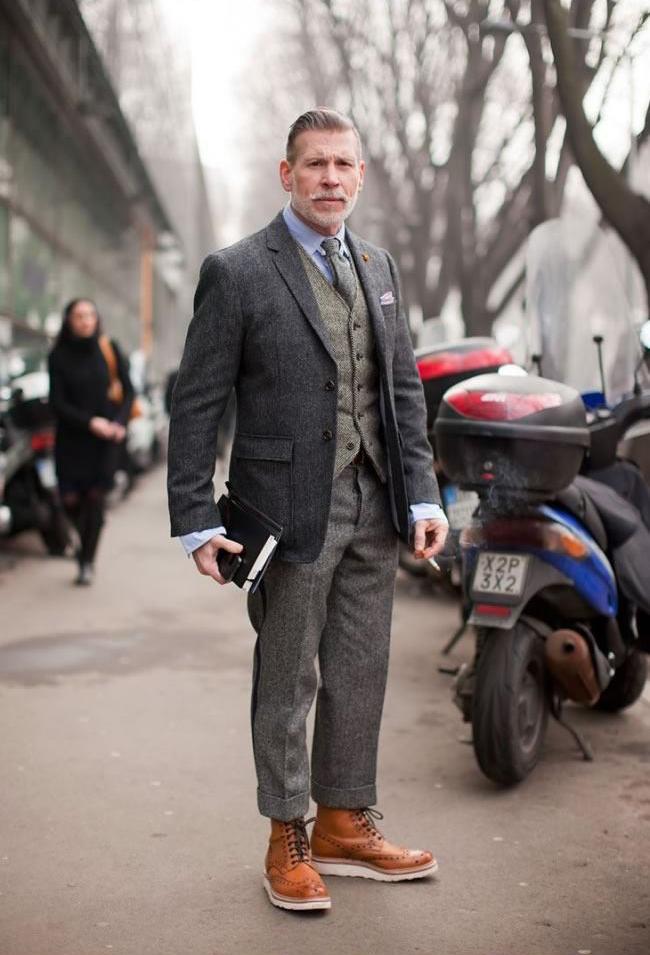 15 Foto kakek keren, buktikan fashion tak cuma berlaku buat kaum muda!