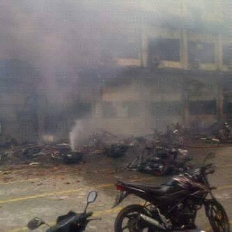 Kumpulan foto kebakaran yang menghanguskan Markas Polda Jawa Tengah
