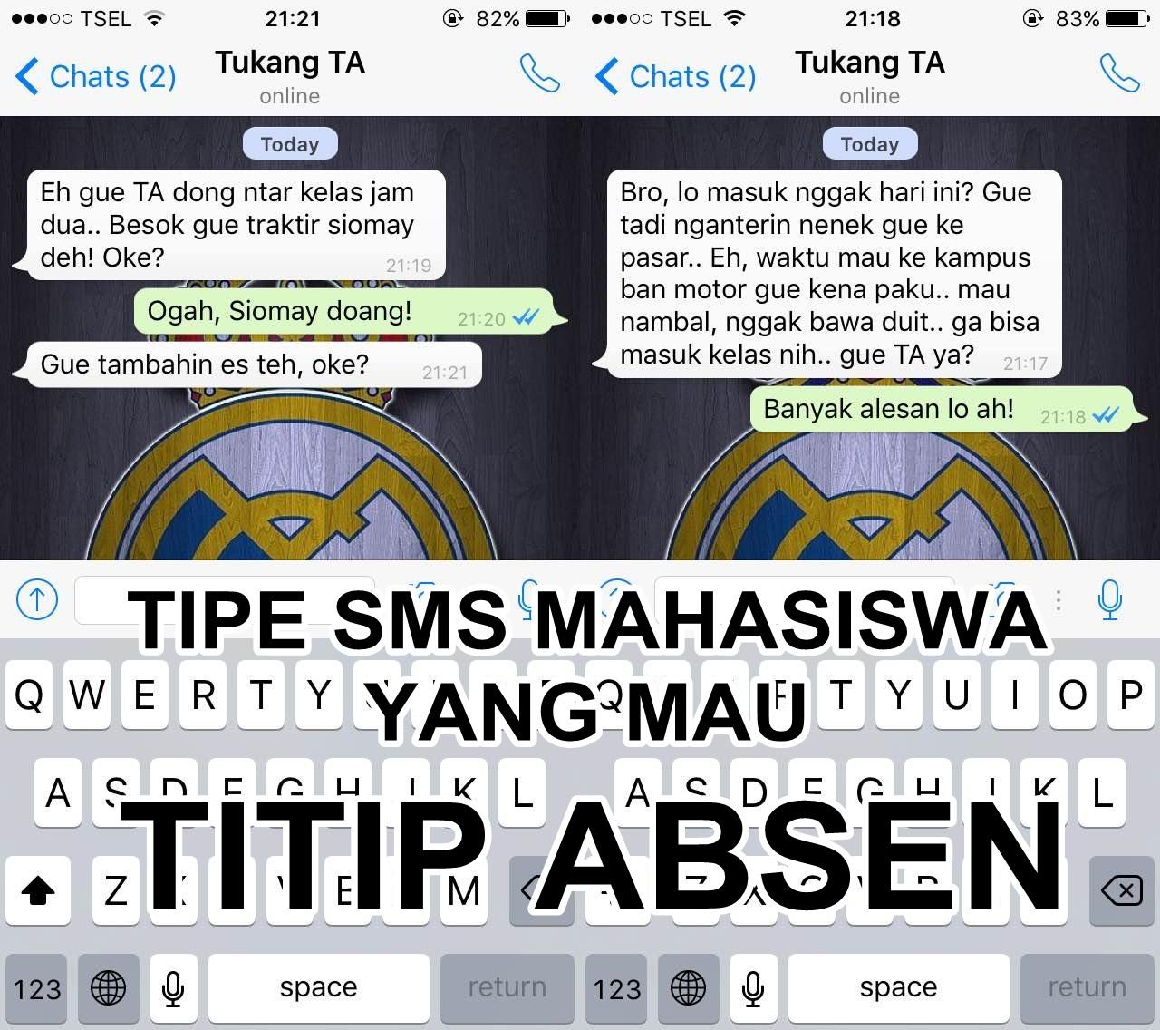 7 Tipe SMS mahasiswa yang mau titip absen, ngeselin nggak sih?