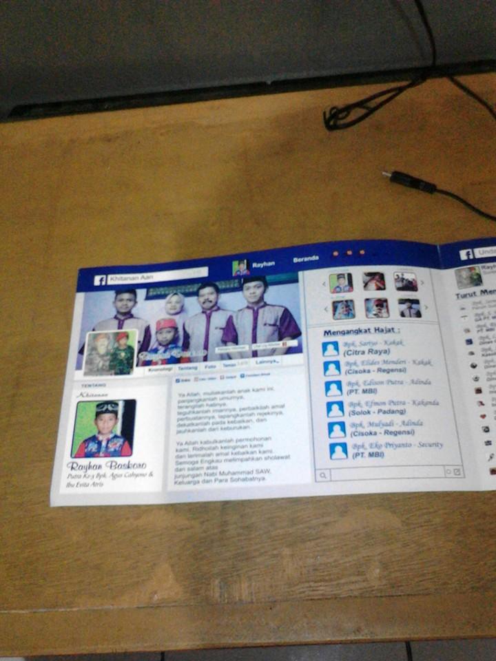 Undangan Khitan Ini Mirip Tampilan Facebook Keren