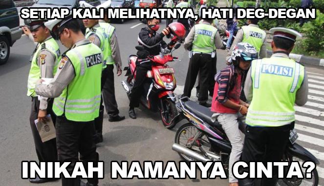 Terkena razia kendaraan, pemuda ini malah kerjai polisi