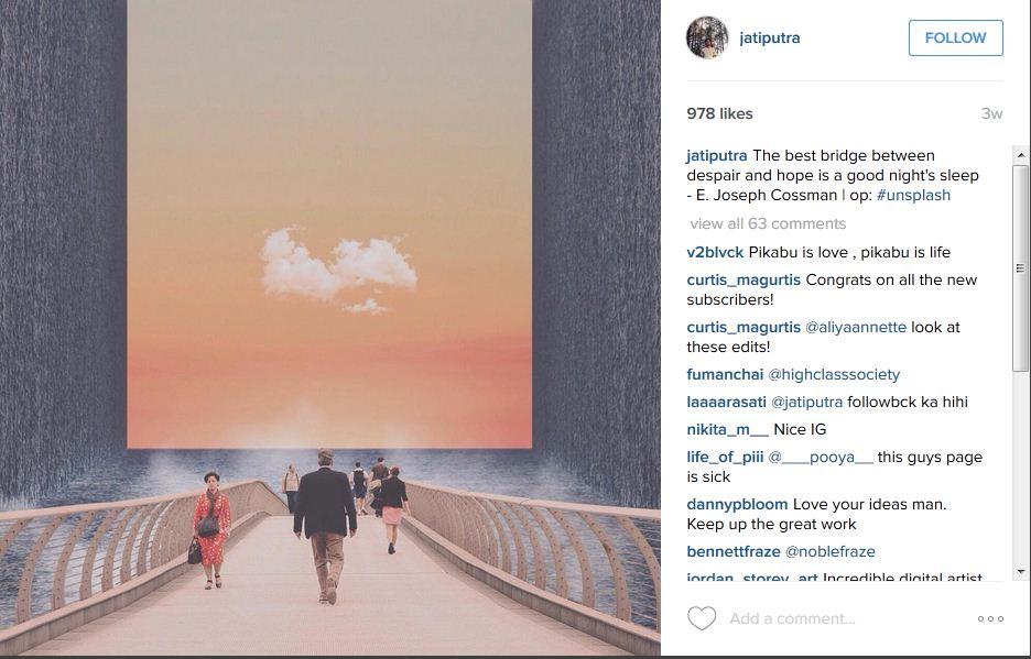 Percaya atau tidak foto bak Inception ini karya orang Indonesia