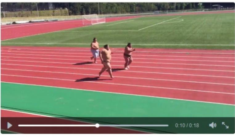 VIDEO: Para atlet sumo coba ikut balapan lari, bikin kamu geli sendiri