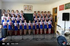 Pelajar Korea Utara nyanyikan lagu Tanah Airku