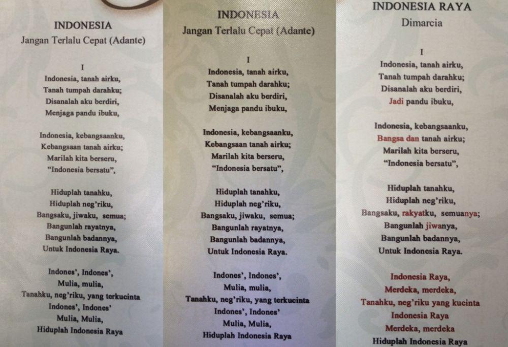 Lagu Indonesia Raya Ternyata Pernah Diubah Dua Kali Begini Cerit