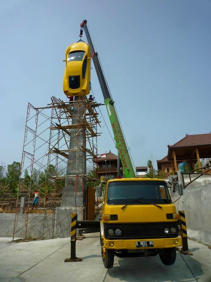 Menara ini akan jadi simbol dukungan pengembangan mobil listrik