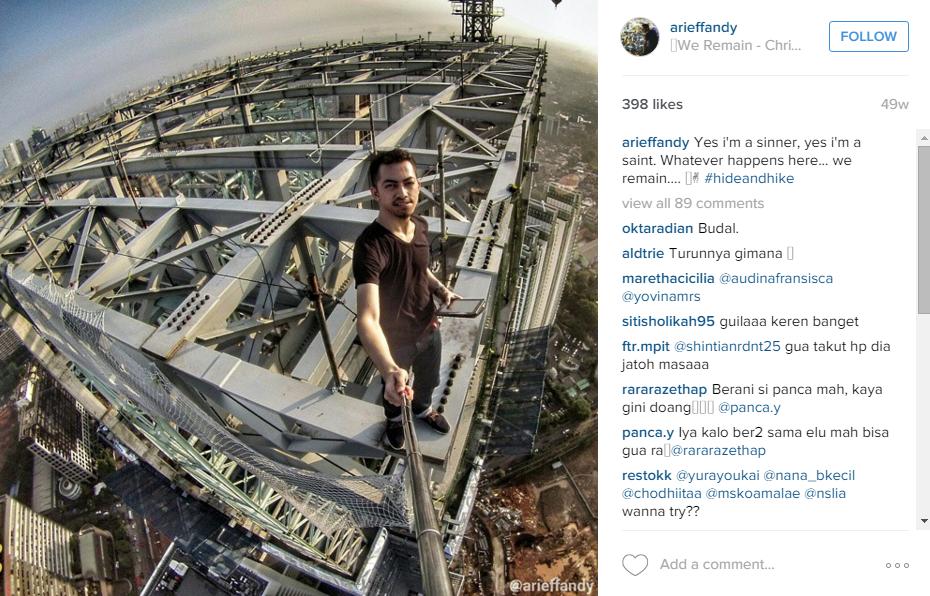 15 Foto selfie ala Arief Fandy ini bikin kakimu gemeteran