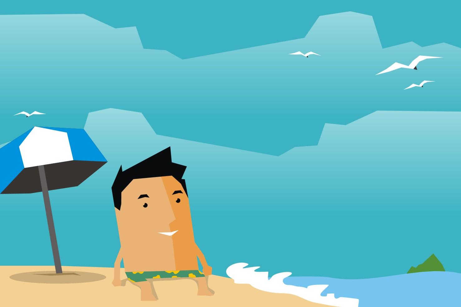 7 Tanda kamu suka liburan ke pantai, asyik lihat ombak
