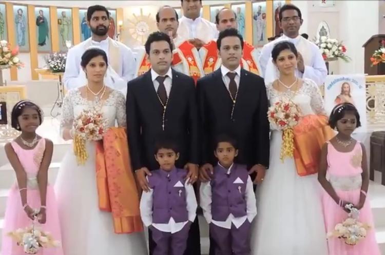 Pernikahan ini melibatkan orang-orang kembar, antimainstream!