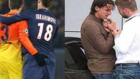 Akhirnya Pique mengakui fakta fotonya dengan Ibrahimovic