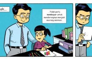Komik strip ini ajari kamu cara menghargai karya orang lain, salut!