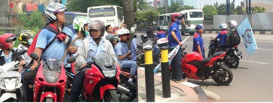 Netizen ke buruh: Pantesan gajinya kurang, tunggangannya begitu...
