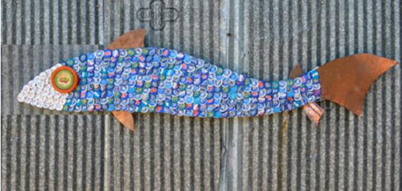 12 Karya seni keren ini terbuat dari tutup botol bekas, salut!