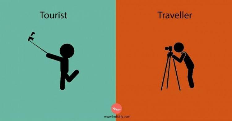 13 Ilustrasi perbedaan turis dengan traveler, kamu yang mana?