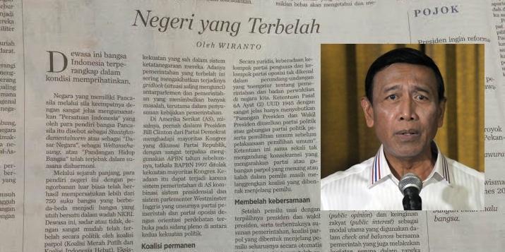 Salah sebut sila ke-4 Pancasila, Wiranto jadi 'bulan-bulanan' netizen