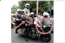 Acara keselamatan lalu lintas, polisi malah atraksi berbahaya, duh