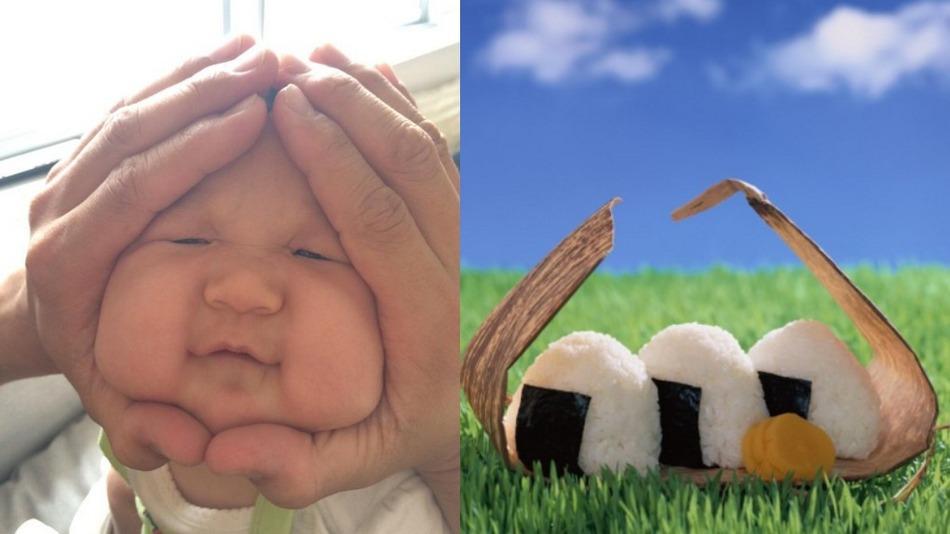 Lucunya foto wajah bayi ala 'Nasi Kepal' lagi ngehits banget di Jepang