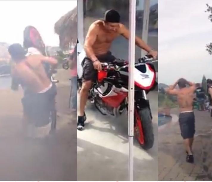 Pria ini hendak pamer kemewahan motornya, hasilnya malah gagal total