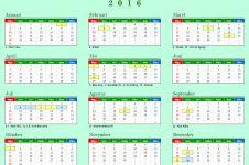 Ini daftar hari libur dan cuti bersama tahun 2016, silakan dicatat!