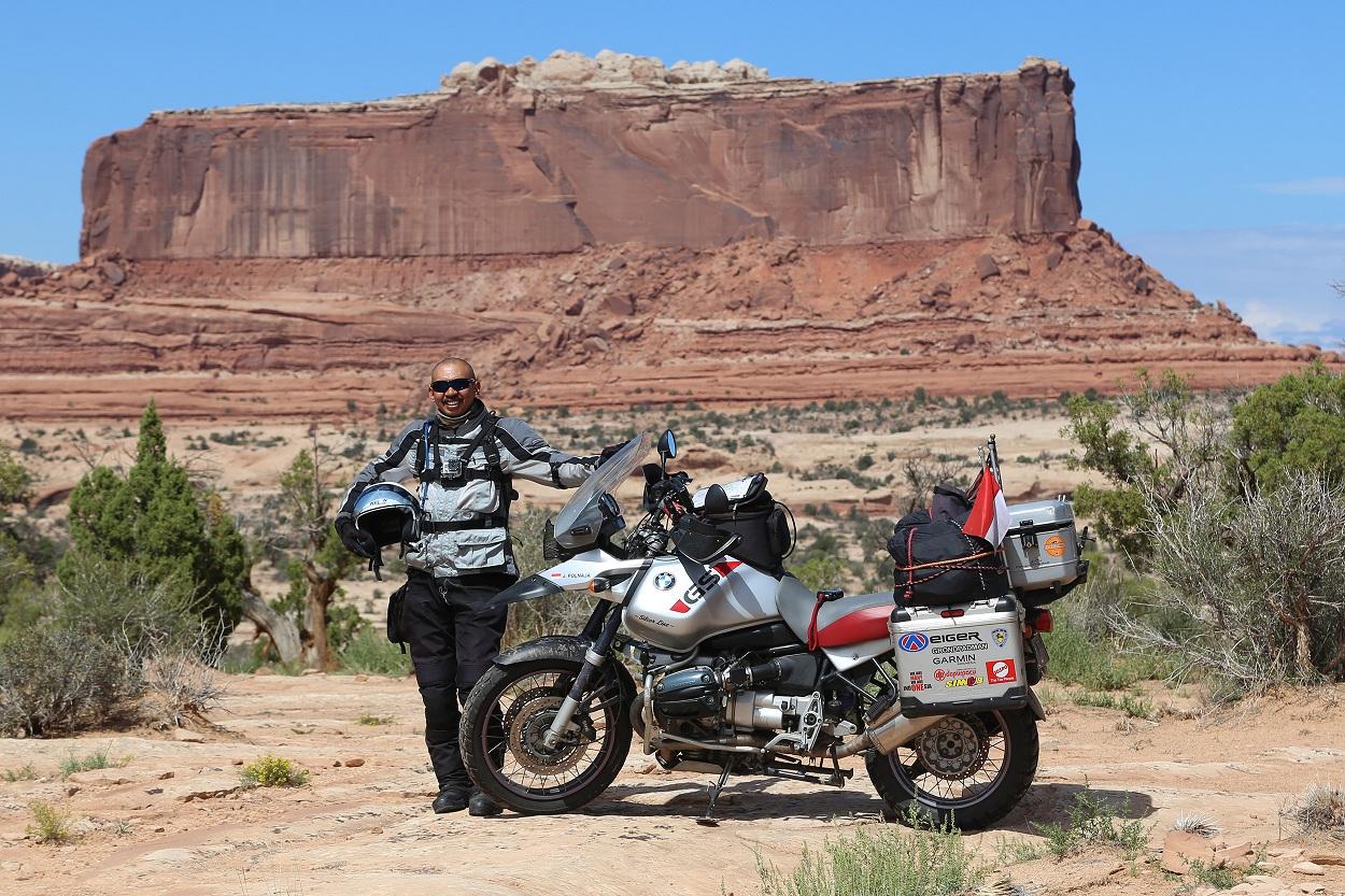 Cerita 'Kang JJ' sukses kelilingi 97 negara dengan sepeda motor, wow!