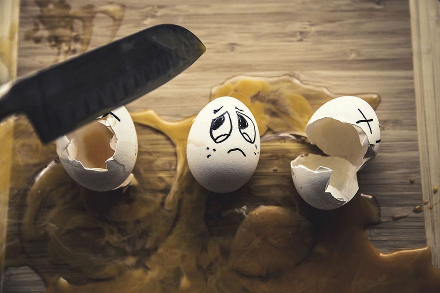Tampilan telur-telur ini berubah jadi menggemaskan