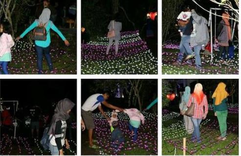 Pengunjung doyan foto rusak lampu di festival lampion Kaliurang, duh!