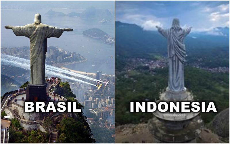 Ada di Indonesia bukan di Brasil, patung ini tertinggi di dunia