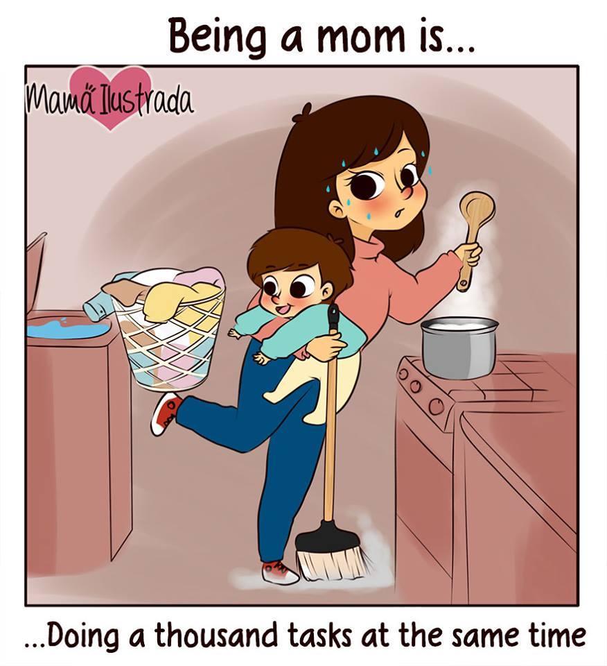 20 Ilustrasi Jenaka Rempongnya Menjadi Ibu Kamu Bakal