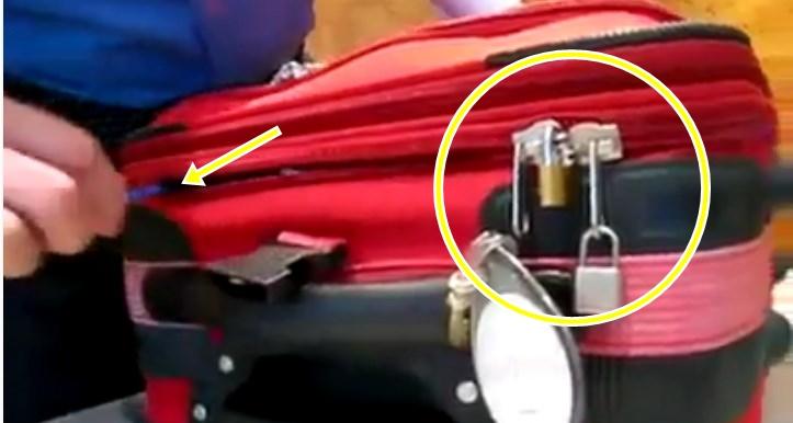 Cara ini biasa digunakan pencuri bobol tas koper bergembok