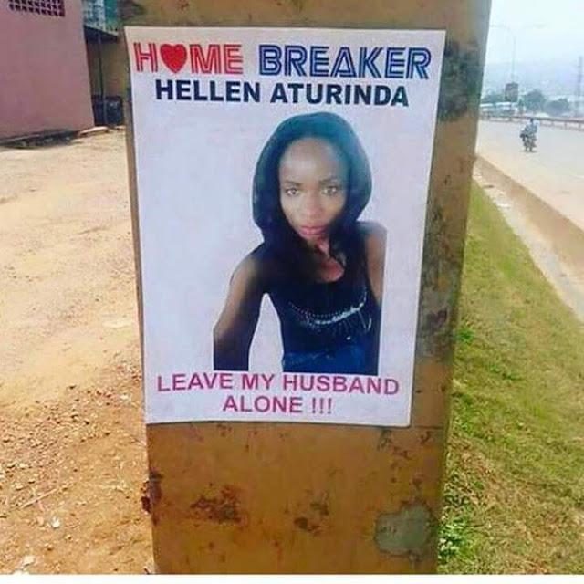Istri yang marah pasang poster selingkuhan suaminya di seluruh kota