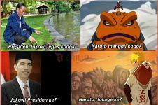 Lepas kodok di Istana, Presiden Jokowi dibilang mirip Naruto