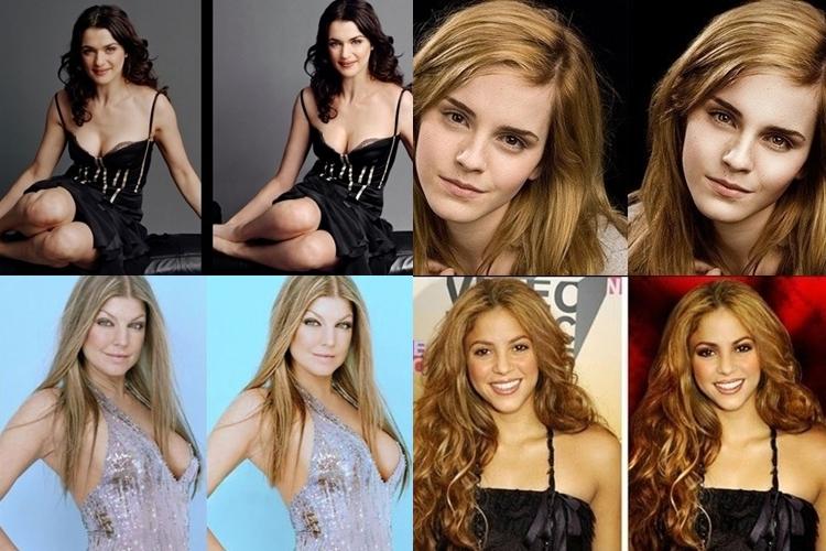 21 Wajah selebriti sebelum & sesudah Photoshop, di luar dugaan banget!