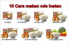 10 Cara orang Indonesia menikmati mi instan, kamu yang mana?