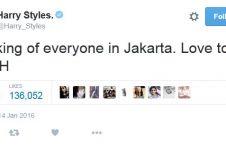 Prihatin teror Sarinah, Harry Styles dapat sanjungan netizen