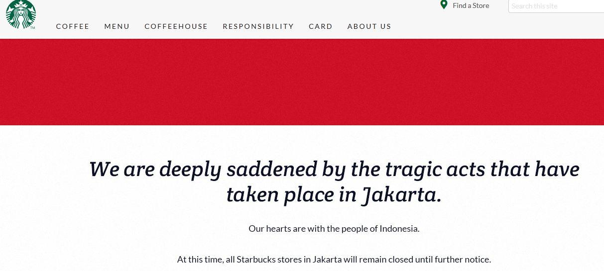 Bukti #KamiTidakTakut, hari ini Starbuck di Jakarta kembali buka